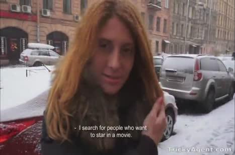 Мужик соблазнил рыжую телочку попробовать порно кастинг 1